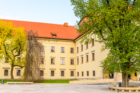 Part of the Wawel Royal Castle in Krakow, Poland Sajtókép