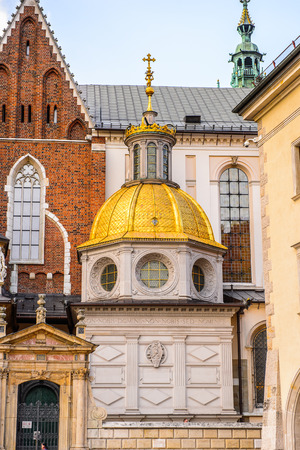Wawel Cathedral in the Wawel Royal Castle in Krakow, Poland Stock Photo