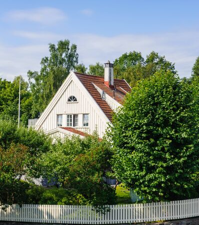 House among the trees in Norway