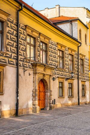 Architecture of the Old town of Krakow, Poland