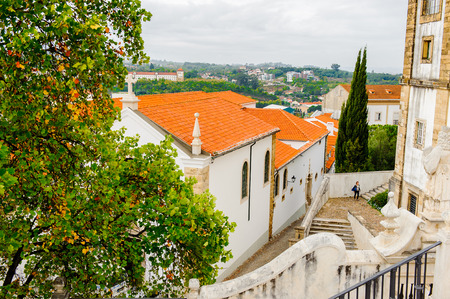 City view from the University of Coimbra, one of the oldest universities in the world. Stock Photo