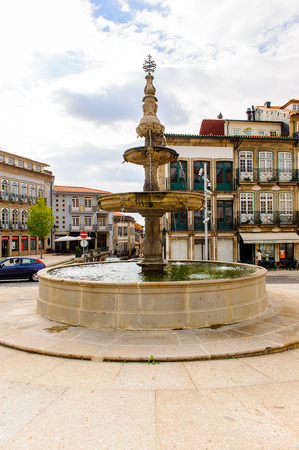 Architecture of the Toural square of Historic Centre of Guimaraes, Portugal.