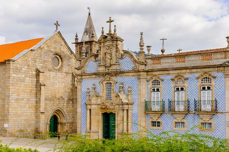 Coloured architecture of Historic Centre of Guimaraes, Portugal.
