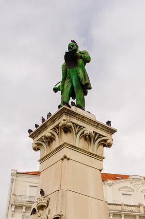 Joaquim Antonio Aguilar statue of the Historic center of Coimbra, Portugal.