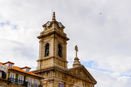 Architecture of the Toural square of Historic Centre of Guimaraes, Portugal