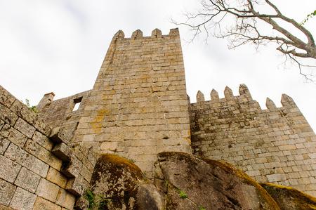 Guimaraes castle, Portugal. UNESCO World Heritage Editoriali