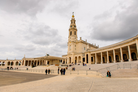 Basilica of Our Lady of the Rosary, Sanctuary of Fatima, Portugal. Important destinations for the Catholic pilgrims and tourists