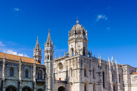 Jeronimos Monastery or Hieronymites Monastery in Lisbon, Portugal.