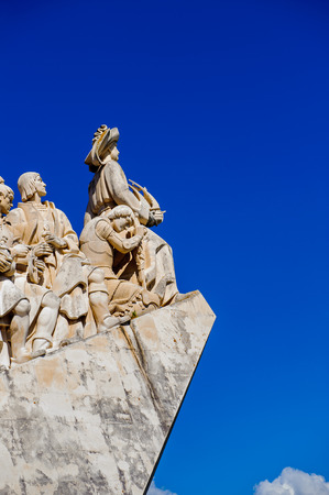 The portuguese discoveries monument, Lisbon, Portugal. The monument celebrates the Portuguese Age of Discovery in 15th and 16th centuries. Editorial