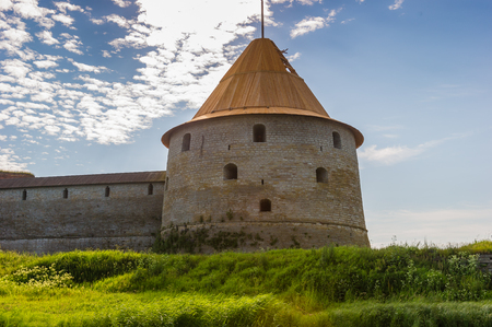 Tower of the Oreshek fortress in Shlisselburg, Russia Editorial
