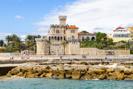 Beautiful view of Estoril on the coast of the Atlantic Ocean