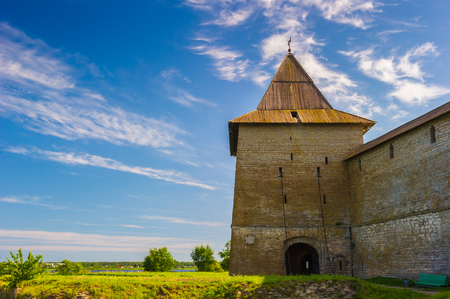 Fortress under the blue sky in Russia Stock Photo