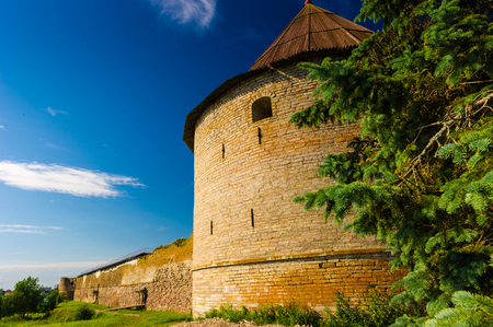 Destroyed fortress in Shlisselburg, Russian federation Stock Photo