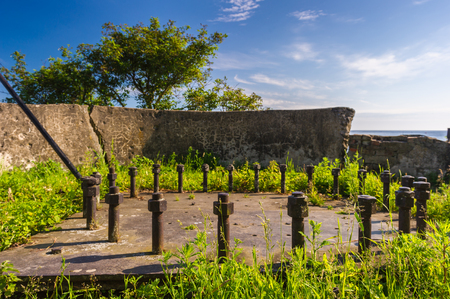 Cementery of the fortress Oreshek, Shlisselburg, Russia Stock Photo