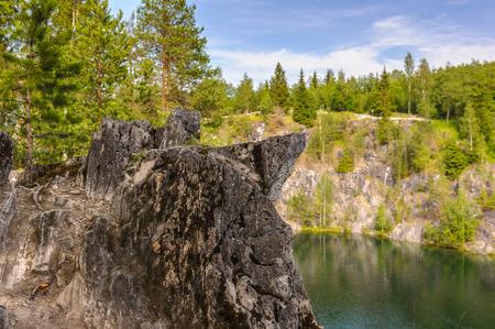 River, rock and plants landscape