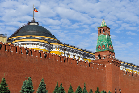 Eastern wall of Kremlin, is a historic fortified complex at the heart of Moscow, overlooking the Moskva River (to the South), Saint Basil's Cathedral and Red Square (to the East) and the Alexander Garden (to the West).