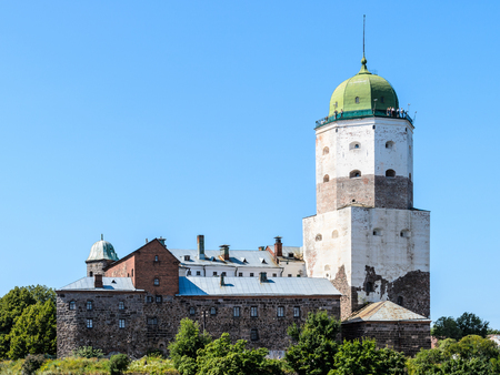 Vyborg Castle (Viipurin linna), a Swedish built medieval fortress around which the town of Viborg (today in Russia) evolved.