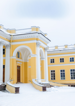 Part of the Alexander Palace, a former imperial residence at Tsarskoye Selo, St Petersburg. 新聞圖片
