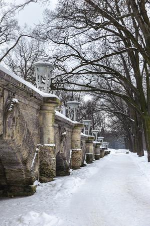 Architecture of the Catherine Park, Tsarskoe Selo,  Russia 版權商用圖片