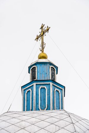 Chapel of the Tikhvin Assumption Monastery, a Russian Orthodox monastery founded in 1560,  (Tihvin, Saint Petesburg region, Russia) Редакционное