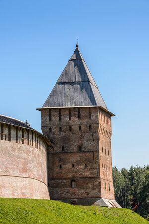 Walls of the Novgorod Kremlin. Historic Monuments of Novgorod and Surroundings