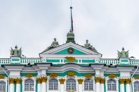 Winter Palace, Hermitage museum in Saint Petersburg, Russia Editorial