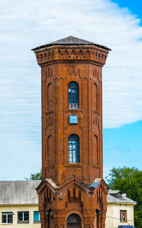 Waterproove tower in Staraya Russa, a town in Novgorod District, Russia