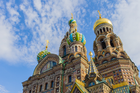 Church of the Savior on Spilled Blood, one of the main sights of St. Petersburg, Russia.