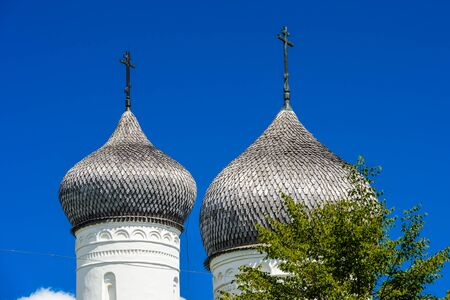 Transfiguration Monastery on a sunny day in the town of Staraya Russa, a town in Novgorod District, Russia Stock Photo