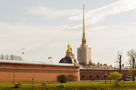 Peter and Paul Fortress, the original citadel of St. Petersburg, Russia, founded by Peter the Great in 1703