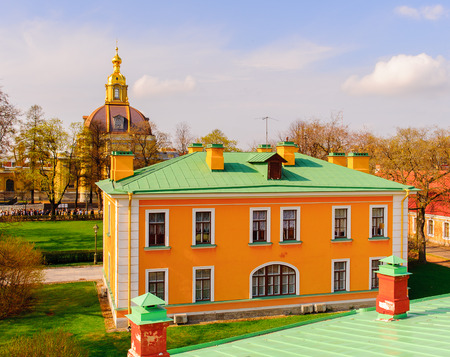 Buildings on the territory of the Peter and Paul fortress in St. Petersburg, Russia Stock Photo