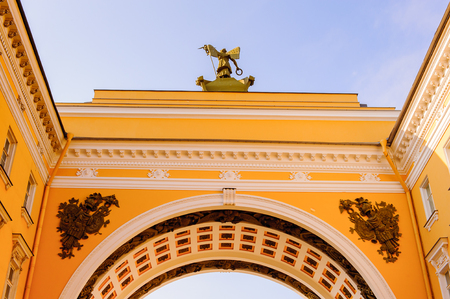 Arch of the entrance onto the Palace Square in Saint Petersburg