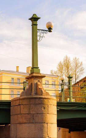 Lamp post of the bridge
