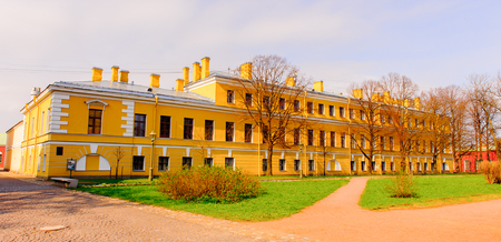 Sight of a territory of the fortress of Petr and Paul in Russia