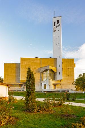 Church in Onesti, Bacau County, Romania Stock Photo