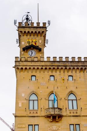 Palazzo Pubblico of San Marino, Stock Photo