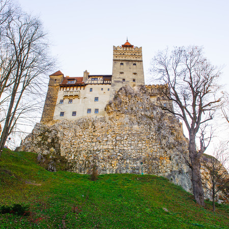 Bran Castle (Dracula Castle) on the top of the rock, Transylvania, Bran, Romania