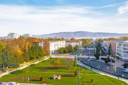 Panorama of Onesti, Bacau County, Romania