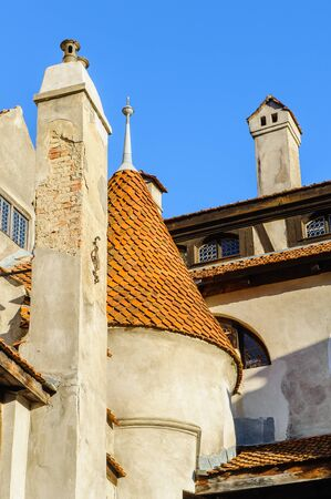 Part of the Dracula Castle in Bran, Romania Editorial
