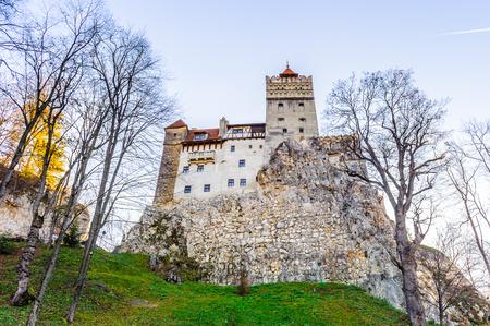 Bran Castle (Dracula Castle) on the top of the rock, Transylvania, Bran, Romania