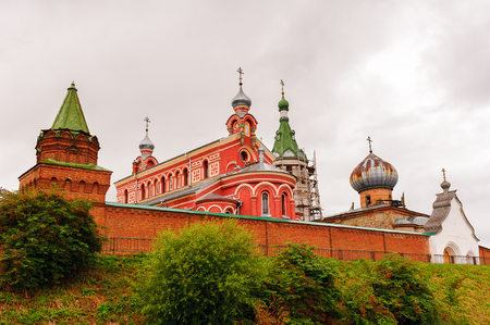 Image of the monastery in Old Ladoga town in Russia