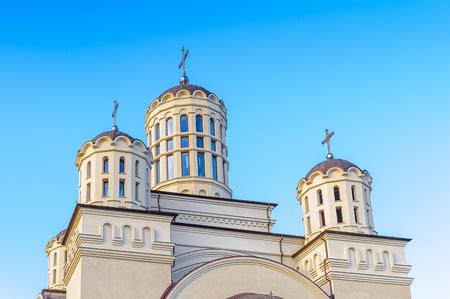 Romanian Orthodox Church in Onesti, Bacau County, Romania Stock Photo