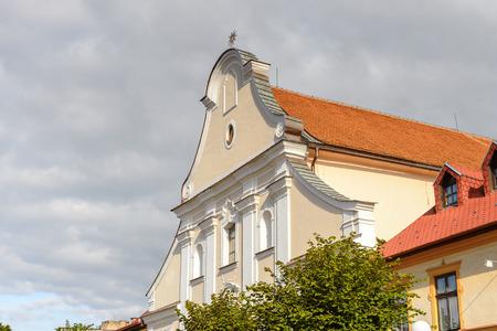 Architecture of the main street of Kezmarok, Slovakia