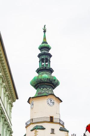 Top of the St.Michael Gate in Bratislava, Slovakia