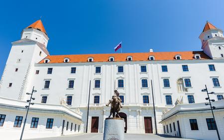 Bratislava Castle, the main castle of Bratislava, the capital of Slovakia. Editorial