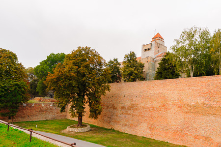 Wall around the Belgrade Fortress (Stari Grad). Belgrade Fortress - Monument of Culture of Exceptional Importance in 1979. Serbia Editorial