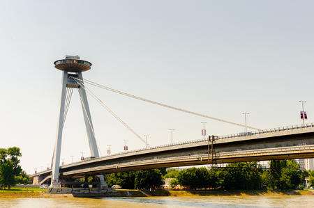 Bridge of the Slovak National Uprising; between the years 1993-2012 named Nový most - New Bridge 新聞圖片