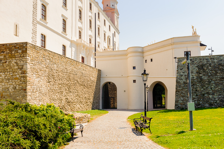 Yard near the Bratislava Castle Editorial