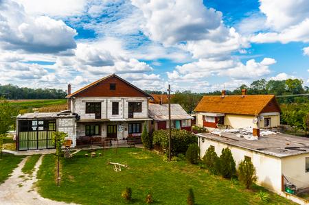 Farm houses a Serbian village