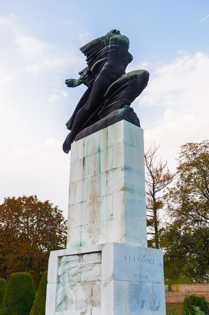 Monument in Beograde Old Town Serbia (after World War I) Editorial